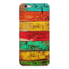 Strips of old painted woods  Oppo A57  printed back cover