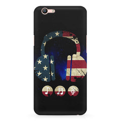 America tunes Blue sprayed  Oppo A57  printed back cover