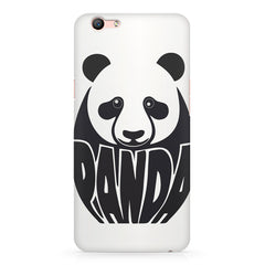 White Panda  design,  Oppo F3 Plus  printed back cover