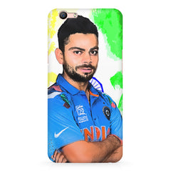 Virat Kohli Oil Painting India design,  Oppo R11 Plus  printed back cover