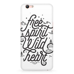 I am a free spirit design Oppo F3 Plus  printed back cover