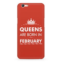 Queens are born in February design Oppo A1 all side printed hard back cover by Motivate box Oppo A1 hard plastic printed back cover.