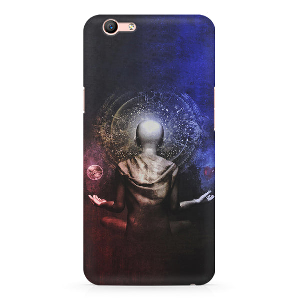 Deep meditation design Oppo A1 all side printed hard back cover by Motivate box Oppo A1 hard plastic printed back cover.