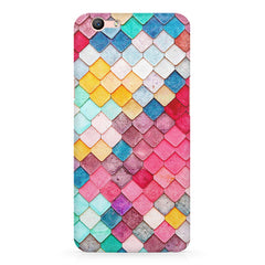 Colorful scales pattern Oppo A1 all side printed hard back cover by Motivate box Oppo A1 hard plastic printed back cover.