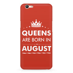 Queens are born in August design Oppo A1 all side printed hard back cover by Motivate box Oppo A1 hard plastic printed back cover.
