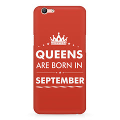 Queens are born in September design Oppo A1 all side printed hard back cover by Motivate box Oppo A1 hard plastic printed back cover.