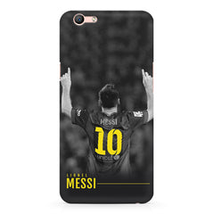 Messi Jersey 10 back view design Oppo A1 all side printed hard back cover by Motivate box Oppo A1 hard plastic printed back cover.