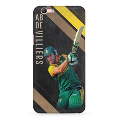 Ab De Villiers the Batting pose Oppo A1 all side printed hard back cover by Motivate box Oppo A1 hard plastic printed back cover.