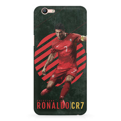Cristiano Ronaldo Portugal Oppo A1 all side printed hard back cover by Motivate box Oppo A1 hard plastic printed back cover.