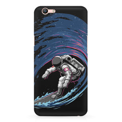 Astronaut space surfing design Oppo A1 all side printed hard back cover by Motivate box Oppo A1 hard plastic printed back cover.