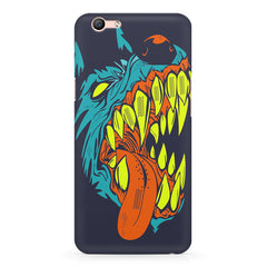 Scary yet funny dog cartoon design Oppo A1 all side printed hard back cover by Motivate box Oppo A1 hard plastic printed back cover.