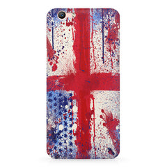 British flag design Oppo A1 all side printed hard back cover by Motivate box Oppo A1 hard plastic printed back cover.