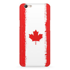 Canadian flag design Oppo A1 all side printed hard back cover by Motivate box Oppo A1 hard plastic printed back cover.
