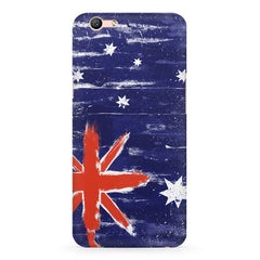 Australian flag design Oppo A1 all side printed hard back cover by Motivate box Oppo A1 hard plastic printed back cover.