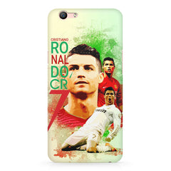 Cristiano Ronaldo Portugal collage design Oppo A1 all side printed hard back cover by Motivate box Oppo A1 hard plastic printed back cover.