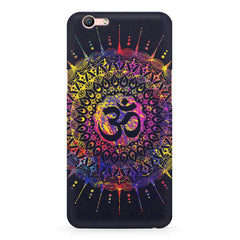 Rangoli Design with OM inscribed in the middle Oppo F3 hard plastic printed back cover