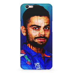 Virat Kohli India inscribed design Oppo A1 all side printed hard back cover by Motivate box Oppo A1 hard plastic printed back cover.