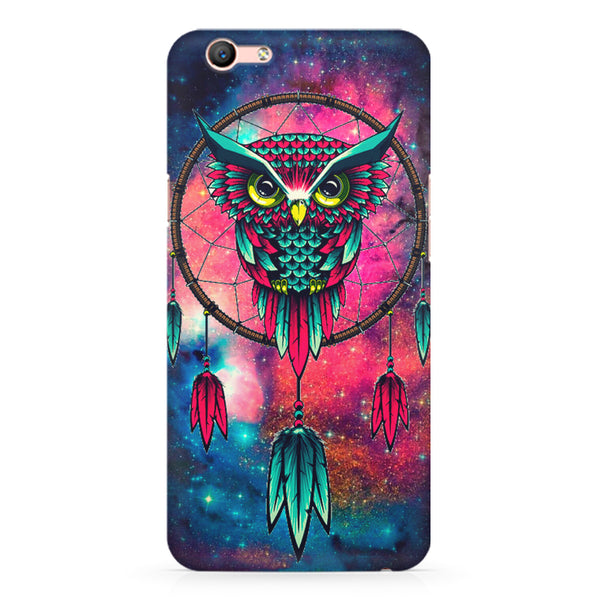 Good luck Owl sketch design Oppo A1 all side printed hard back cover by Motivate box Oppo A1 hard plastic printed back cover.