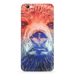 Zoomed Bear Design  Oppo F3 hard plastic printed back cover