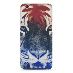 Pixel Tiger Design Oppo F3 hard plastic printed back cover