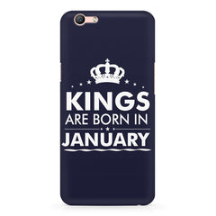 Kings are born in January design    Oppo F3 hard plastic printed back cover