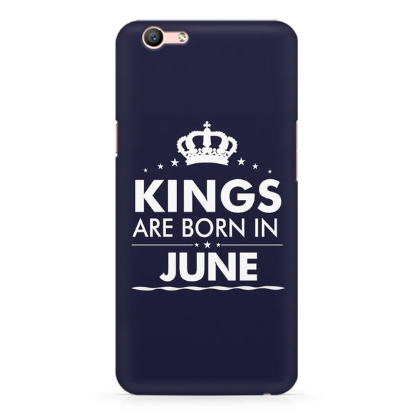 Kings are born in June design Oppo A1 all side printed hard back cover by Motivate box Oppo A1 hard plastic printed back cover.