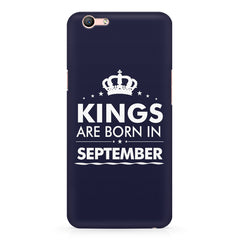 Kings are born in September design    Oppo F3 hard plastic printed back cover