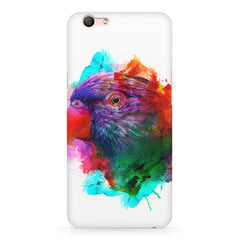 Colourful parrot design Oppo F3 hard plastic printed back cover
