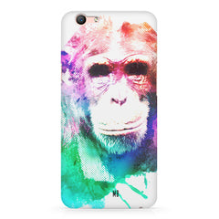Colourful Monkey portrait Oppo F3 hard plastic printed back cover