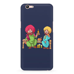 Punjabi sardars with chicken and beer avatar Oppo F3 hard plastic printed back cover