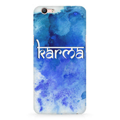Karma Oppo F3 hard plastic printed back cover