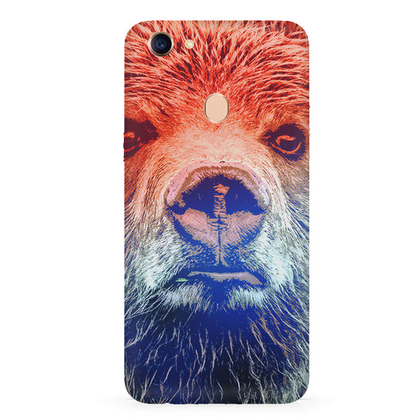Zoomed Bear Design  Oppo F7 hard plastic all side printed back cover