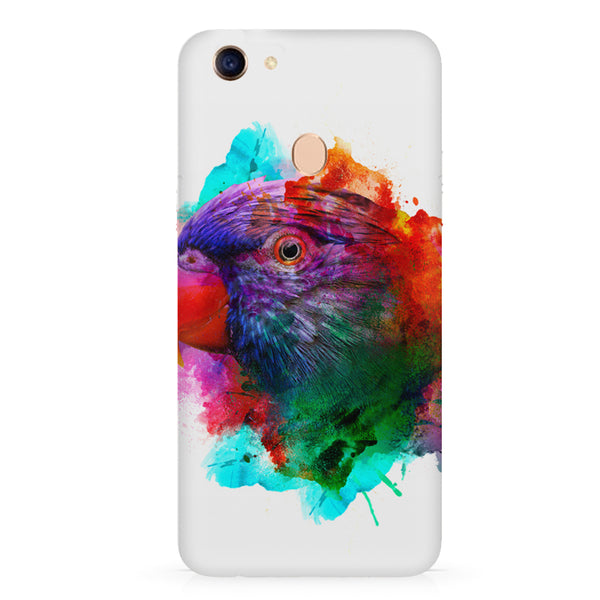 Colourful parrot design Oppo F7 hard plastic all side printed back cover