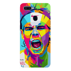 Graphic art Portrait of Nadal/ Go do it now design Oppo F9 hard plastic printed back cover
