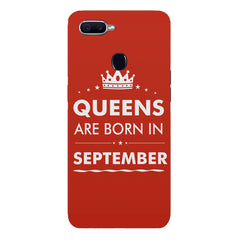 Queens are born in September design Oppo F9 hard plastic printed back cover