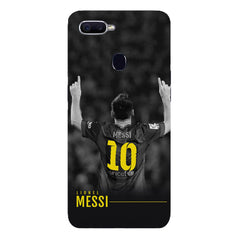 Messi Jersey 10 back view design Oppo F9 hard plastic printed back cover