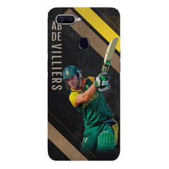 Ab De Villiers the Batting poseOppo F9 hard plastic printed back cover