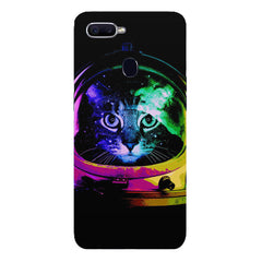 Astro Cat design Oppo F9 hard plastic printed back cover