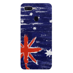 Australian flag design Oppo F9 hard plastic printed back cover