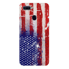 American flag design Oppo F9 hard plastic printed back cover