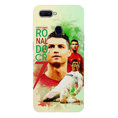 Cristiano Ronaldo Portugal collage design Oppo F9 hard plastic printed back cover