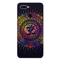 Rangoli design  with OM inscribed in the middleOppo F9 hard plastic printed back cover