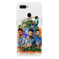 Virat Kohli over the years collage design  Oppo F9 hard plastic printed back cover