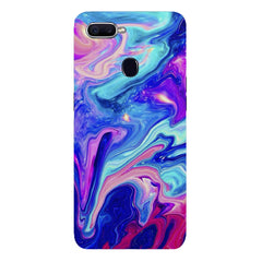Colours spill design Oppo F9 hard plastic printed back cover