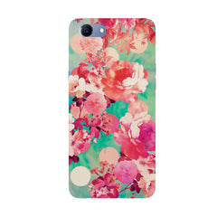 Floral  design,  Oppo Real Me 1 hard plastic printed back cover
