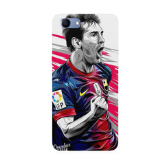 Messi illustration design,  Oppo Real Me 1 hard plastic printed back cover