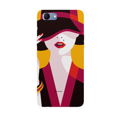 Classy girl  design,  Oppo Real Me 1 hard plastic printed back cover