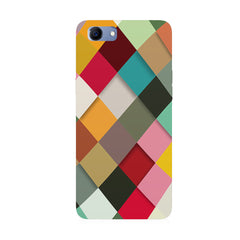Graphic Design diamonds   Oppo Real Me 1 hard plastic printed back cover