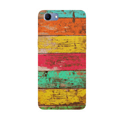 Strips of old painted woods  Oppo Real Me 1 hard plastic printed back cover