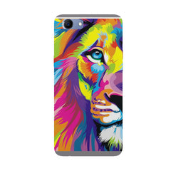 Colourfully Painted Lion design,  Oppo Real Me 1 hard plastic printed back cover